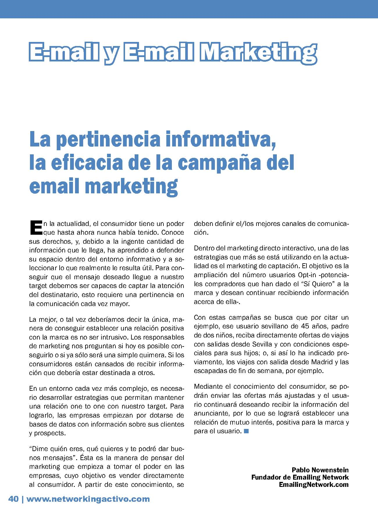 e-Mail M&aacute;rketing