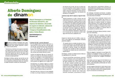 Entrevista a Alberto Domínguez de Dinamon