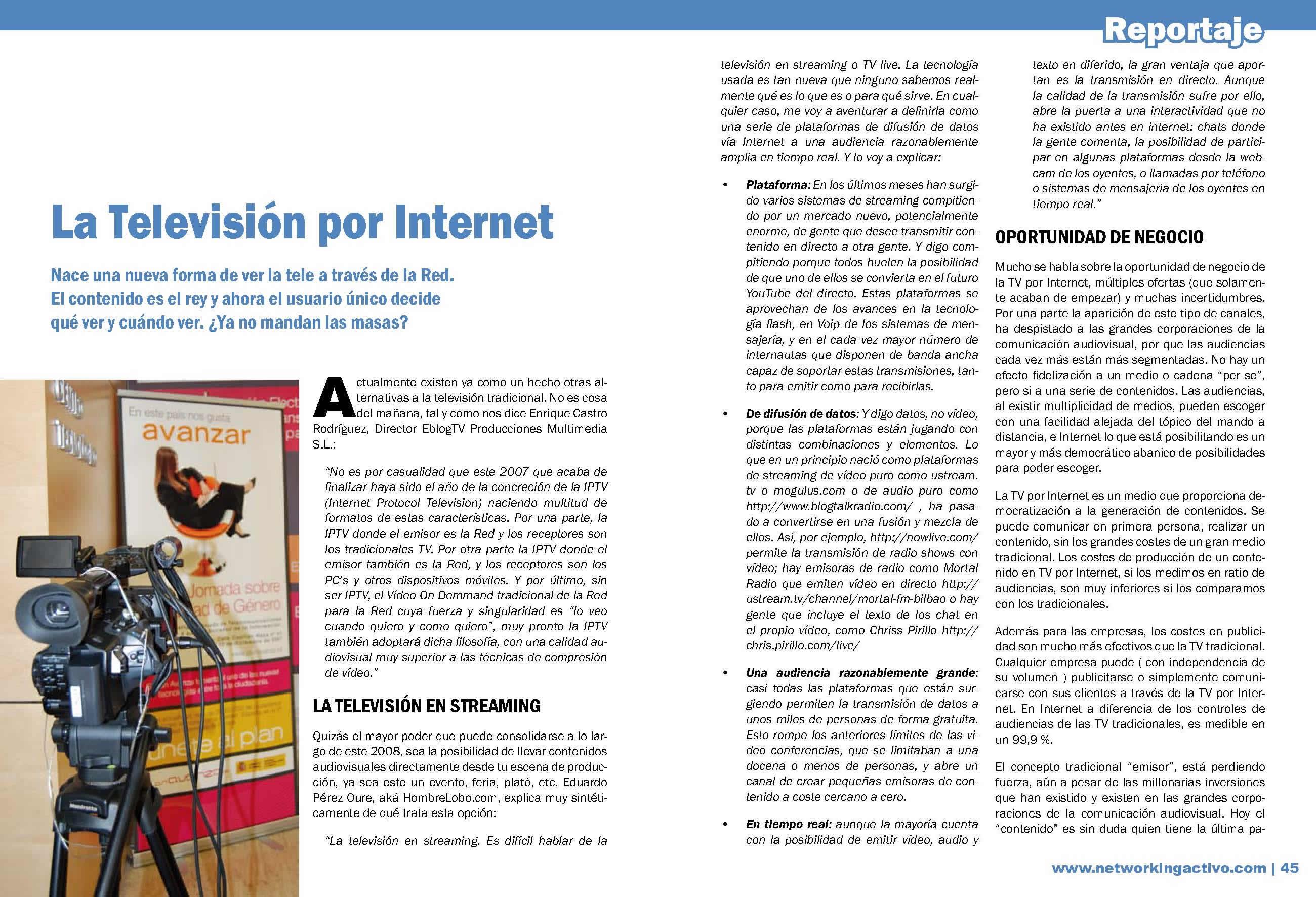 La televisión por internet I
