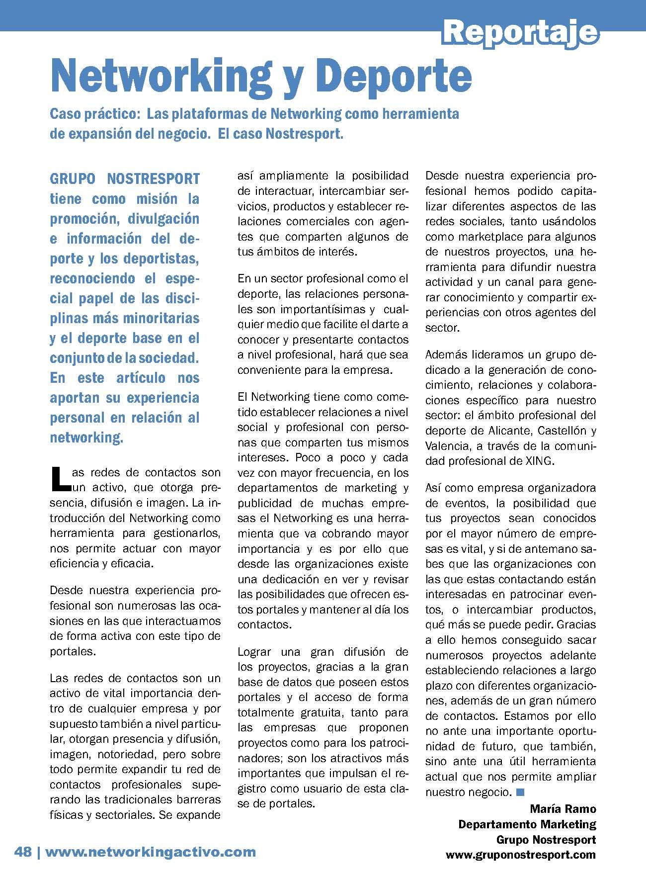 Networking y deporte