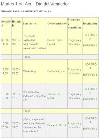 Programa del Día del Vendedor