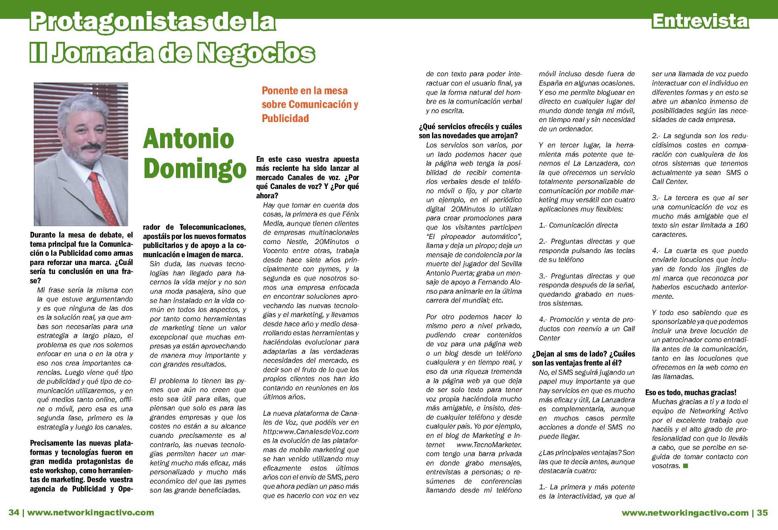 Protagonistas IIJN: Antonio Domingo