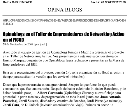 Noticia de Opinablogs